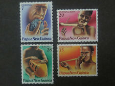 Papua New Guinea Traditional Musical Instruments Set of 4 - 1979 - MUH