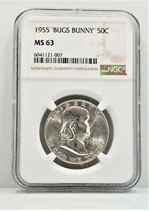 1955 Bugs Bunny Franklin Silver Half Dollar 50c NGC MS 63 C80