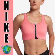Nike Women's Size Small Pro Front Zip Sports Bra At4294 827 Crimson/black