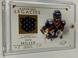 2012 Von  Miller Bowman Topps Aspiring Legends Rookie Relic Card