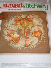 VTG 1978 Sunset Stitchery Nature's Wreath Embroidery Kit by Charlene Gerrish