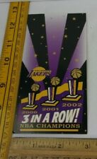 Los Angeles Lakers 2002 pre-season luncheon ticket Kobe Bryant 3 in a Row