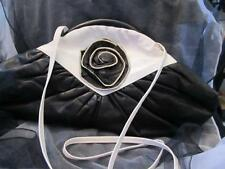 Vintage Timmy Woods of Beverly Hills 1977 Black & White Leather Evening Handbag