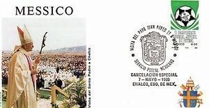004- FDC VATICAN VISITE PAPE JEAN PAUL II  AU  MEXIQUE 1990