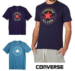 CONVERSE Chuck Taylor Men's T Shirt - Teal, Indigo Blue - Genuine UK Stock, BNWT
