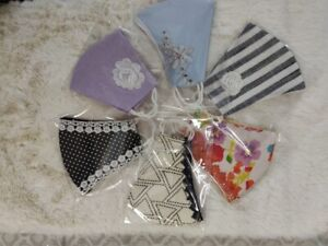 COTTON FACE MASKS WASHABLE, REUSABLE, PROTECTIVE, EMBROIDERED, EDGED, BREATHABLE