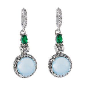 Elegant Women Earrings Rhinestone Emerald Crystal Drop Dangle Earring Jewelry