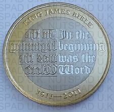 "2011 Royal Mint "" King James Bible 400th Anniversary "" PROOF  £2 Two Pound Coin"