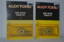 2 Alloy Forms Roof Water Tower Kits N Scale