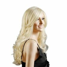 Long Curly Blond Wig for Women Ladies Cosplay Party Halloween Costume 29.5inches