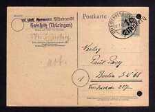 h974 Handstempel Bezirk 16 Erfurt Ganzsache AS 12 Pfg. Eisenberg Bedarf  Handbuc