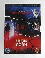 HELLRAISER - Clive Barker, HELLGATE, CHILDREN OF THE CORN - Steven King {DVD}