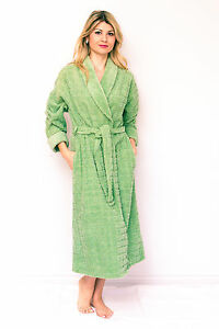 Cotton Chenille Robes Shawl Collar Luxury Bathrobes Dressing Gowns Spa