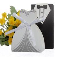 cnomg 100pcs Party Wedding Favor Dress  Tuxedo Bride and Wholesale Candy Favor