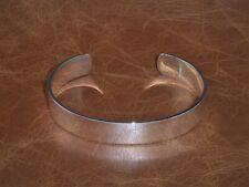Men's Gents Solid 925 Sterling Silver Open Torque Bangle Bracelet