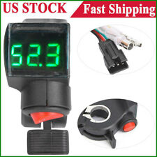 E-bike Electric Bicycle Scooter Thumb Throttle Power Switch LED Voltage Display