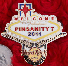 Hard Rock Cafe Pin PINSANITY 7 Welcome To LAS VEGAS NEON SIGN guitars LE300 logo