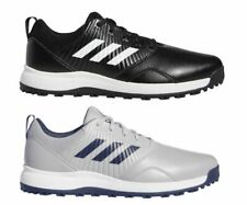 adidas CP Traxion Spikeless Waterproof Wide Mens Golf Shoes - Black / Grey