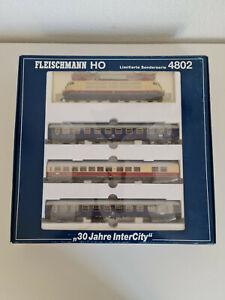 """Fleischmann Zugset """"30 Jahre InterCity"""" Limitierte Sonerserie Nr. 4802"""