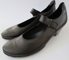 "NWOB Arche France Black Nubuc Leather ""Bahiko"" Mary Jane Pumps/Shoes 41/10"