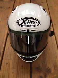 Mens Nolan X-803 XLITE White Motorcycle Racing F1 BSB Helmet Size S