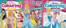 DISNEY PRINCESS COLOURING Book x 3 - SET with Sticker Play (PAPERBACK)