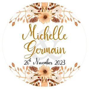 Personalised Wedding Stickers Favour Labels (A-014)