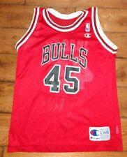 Vintage 1995 Champion MICHAEL JORDAN CHICAGO BULLS #45 JERSEY youth Size L 14-16
