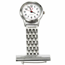Nurses Stainless Steel Quartz Fob Watch in Silver With 2 Extra Battery's