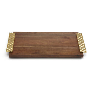 Michael Wainwright TRURO GOLD LARGE WOOD BREAD BOARD #871279 ~ New in Box