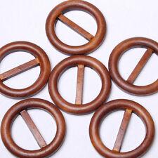 B606 Wooden Buckle Sash Sarong Belt Accessory Sewing Craft Art Buttons 47mm 6pcs