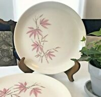 Dinner Plates PINK BAMBOO Salem Set of 3 Retro VTG 1963 Mid Century Modern