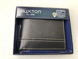 Buxton Men's Monroe RFID Blocking Front Pocket Slimfold Slim Wallet, Black MO820