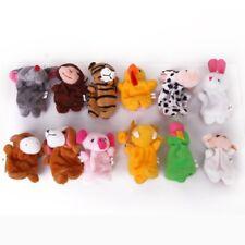 12pcs Juguete animal de las marionetas del dedo del zodiaco Q9D2