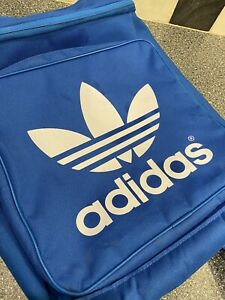 Adidas Originals Blue (White Logo) Backpack Rucksack 3 compartments (with zips)