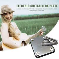 Electric Guitar Neck Plate Telecaster Guitar Neck Joint Board with 4 Screws