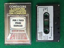 CONOSCERE IL COMPUTER PRIMI ESERCIZI (1984) x COMMODORE 64 VIC 20 game
