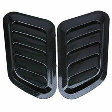 2x Universal Carbon Fiber Style Auto Car Decorative Air Flow Intake Vent Hood