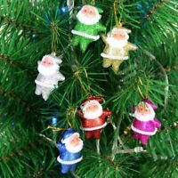 6PCs/set Cute Mini Santa Claus Hanging Ornament Festival Christmas Tree Decor