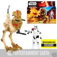"""Star Wars Force Awakens Desert Assault Walker w/ First Order Stormtrooper 3 3/4"""""""
