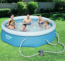 "Bestway 10' x 30"" Fast Set Inflatable Above Ground Swimming Pool No Filter Pump!"