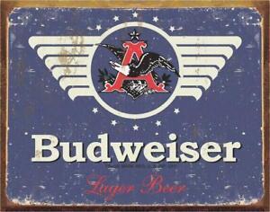"Budweiser Beer Vintage Retro Tin Metal Sign 16"" x 12.5"""