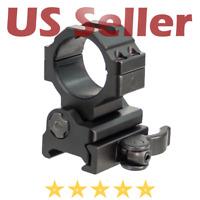 UTG 30mm Flip to Side Picatinny Weaver Quick Detach Ring Mount Aluminum 2 Insert