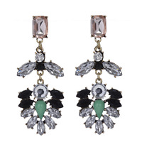 Elegant Women Fashion Jewelry Rhinestone Resin Ear Stud Eardrop Dangle Earrings