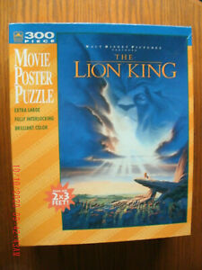 NEW Lion King Movie Poster Puzzle 300 pc 2 x 3 ft Pride Rock scene XL piece size