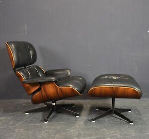 Charles Eames Lounge Chair + Ottomane 1970er Jahre Herman Miller/Vitra mit Cites