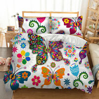 Duvet Cover Set For Comforter Twin/Full/Queen/King Size Bedding Set Butterfly