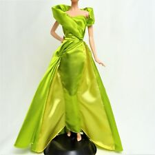 Gorgeous Green and Gold Fitted Gown for Barbie Doll