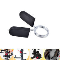"1PCs 1"" Standard 25mm Spring Clamp Collar Clips For Weight Bar Dumbbells Gym FT"