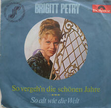 "7"" 1966 RARE VG+ ! BRIGITT PETRY : So alt wie die Welt"